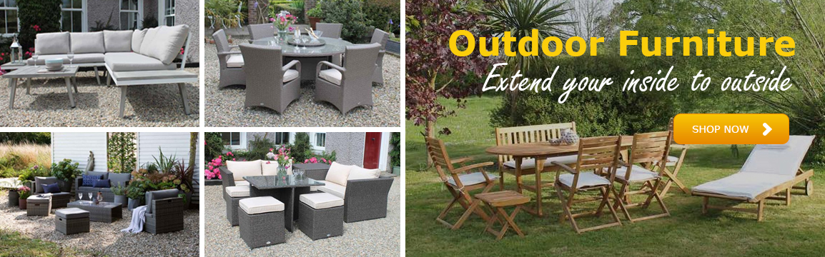 Garden furniture summer banner